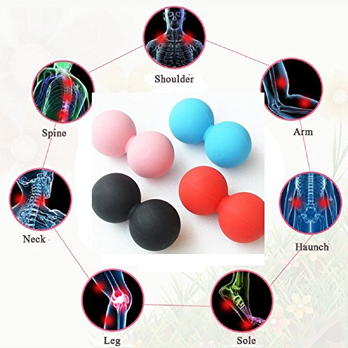 Fronnor Silicone Plastic Peanut Yoga Massage Massager Ball Rollers Back Trigger Point Therapy Sports Gym Release Excise Mobility Tools – DiZiSports Store