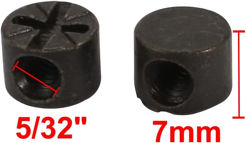 uxcell 40pcs M6 Thread Dia 22mm Length Iron Phillips Drive Cross Dowel Barrel Nut