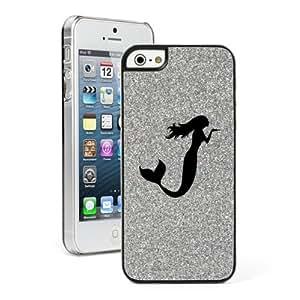 Silver Apple iPhone 5 5s Glitter Bling Hard Case Cover 5G695 Mermaid