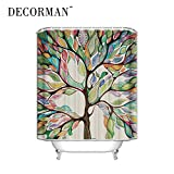 DECORMAN Custom Shower Curtains Tree of Life Waterproof Polyester Fabric Shower Curtain 66