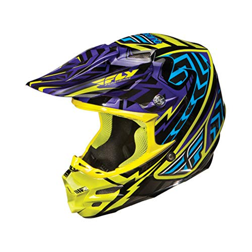 Fly Racing Replacement Visor for F2 Carbon Andrew Short Replica Helmet Blue Lime Purple One Size