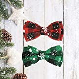 Christmas Cat Collar with Bow Tie and Bell, 2 Pack