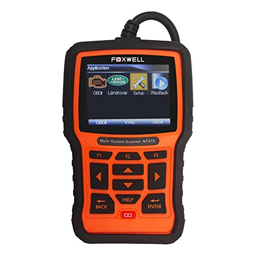 FOXWELL Nt510 Obdii Code Scanner Land Rover/Jaguar Full System Diagnostic Tool with Service Features Such As Oil Service Light Reset, Throttle Body Adjustment, DPF Regeneration by FOXWELL