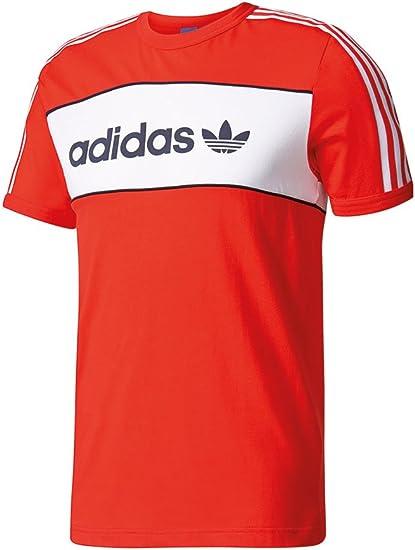 adidas Originals T Shirt Block Core Red