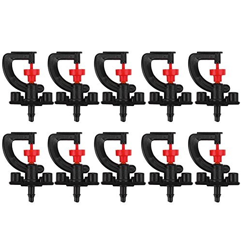 Garden Watering System 10pcs 360° Rotary G Type Micro Nozzle Sprinkler Plant Irrigation Atomizing