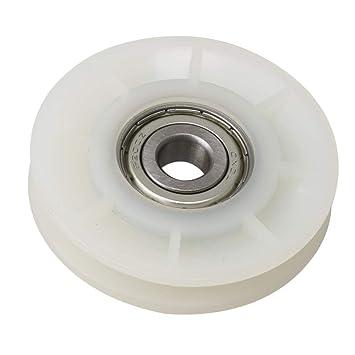 Yibuy - Rueda de Cable para Equipo de Gimnasio (60 x 12 mm), Color Blanco: Amazon.es: Hogar