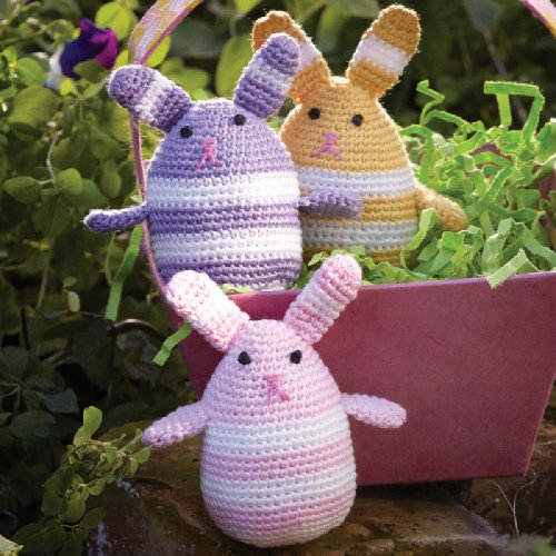 - Hand-Crocheted Easter Egg Shaped Bunnies