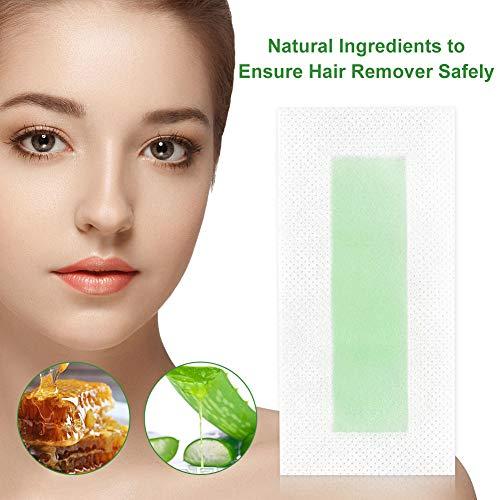 Facial Wax Strips,Hair Removal Wax Strip,Mini Face Wax Strips,Hair Removal Waxing Strips for Eyebrows,Lips,Sensitive Face