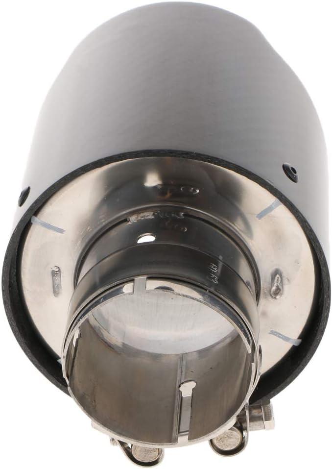 Homyl Tendina Universale Tubo Terminale di Scarico Silenziatore Tubo 80mm Nero