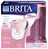 Brita Grand Water Filtration Pitcher, Pink