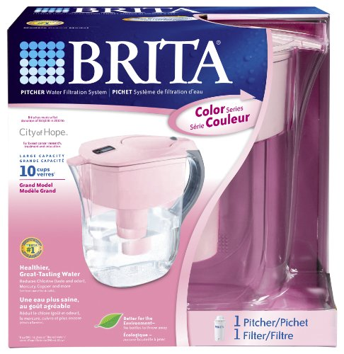 Brita Grand Water Filtration Pitcher, Pink by Brita