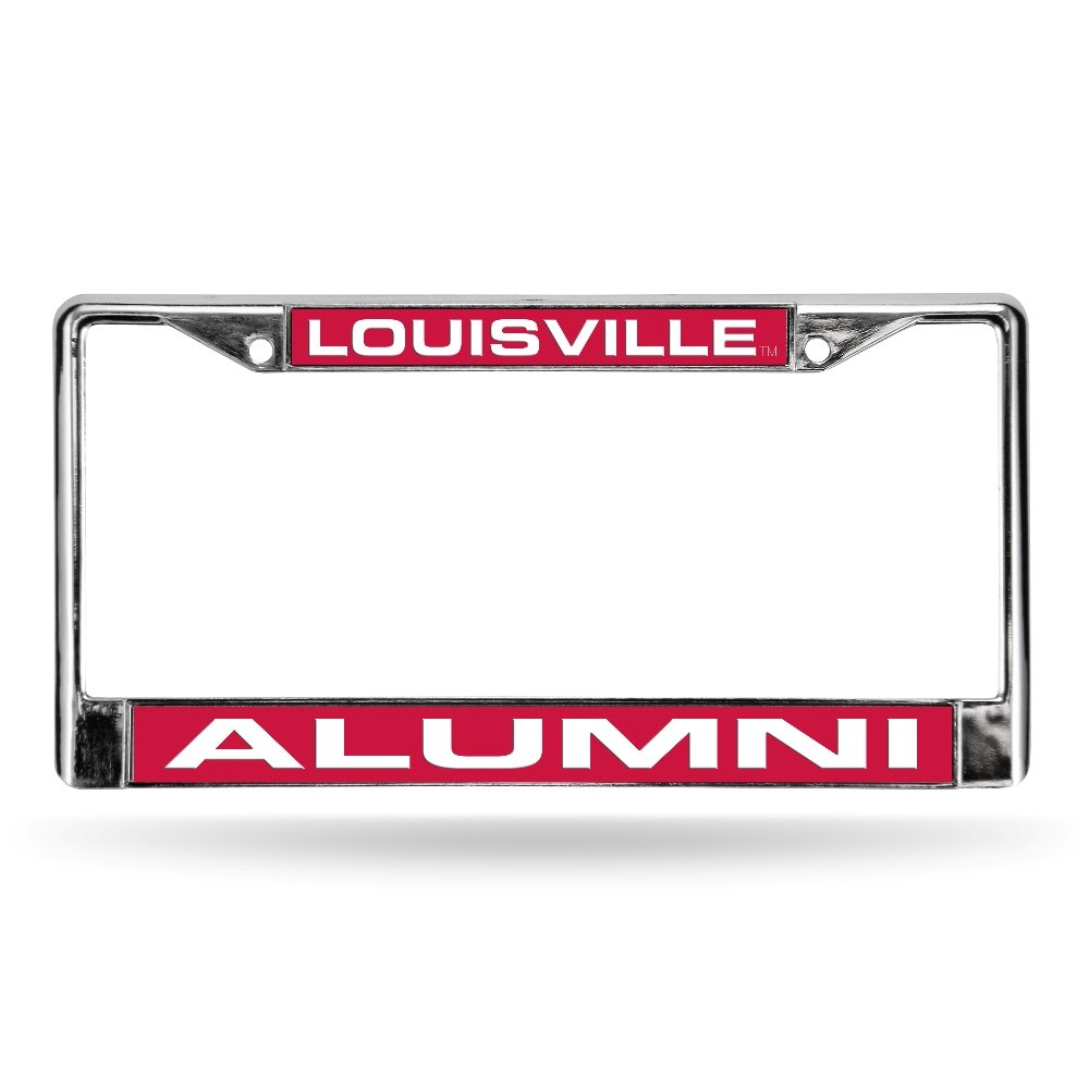 Multicolor Rico NCAA Louisville Alumni Red Laser Chrome Frame Sports Fan Automotive Accessories One Size