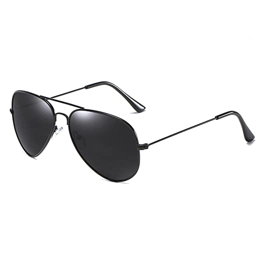 089b7c6e115 AIMADE Polarized Aviator Classic Sunglasses Mirrored Flat Lens for Men or  Women (C1blackgray)