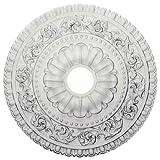 Ekena Millwork CM23VA 23 1/2-Inch OD x 3 1/2-Inch ID x 2 1/8-Inch P Vaduz Ceiling Medallion
