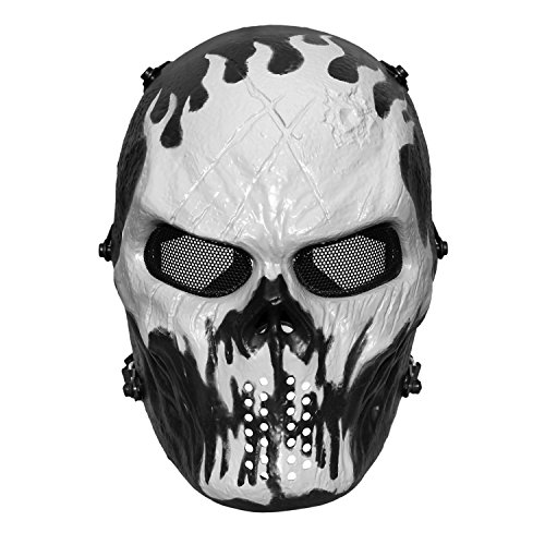 JIUSY Ghost Skull Tactical Airsoft Full Face Mask