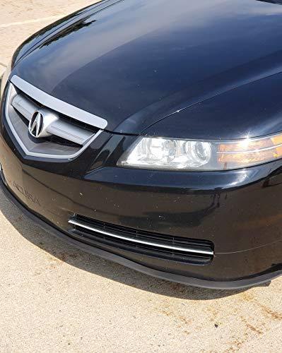 TRUE LINE Automotive Premium Rubber Front Bumper Ground Effect Molding Lip Trim Kit