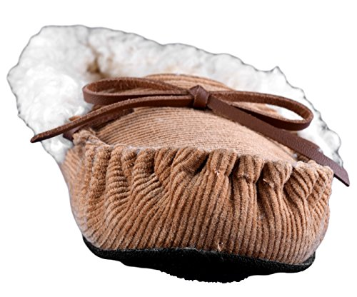 Women's Dearfoams Material Mixed Camel Moccasin Slipper OAxqYxZ0