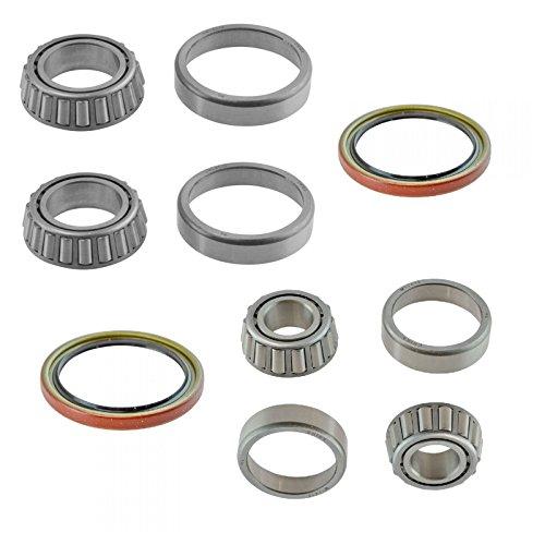 6 Piece Inner & Outer Wheel Bearing w/Seal Kit LH & RH Sides for GMC Chevy Truck - Inner Wheel Bearing