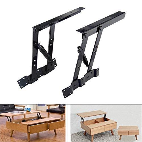 Sauton 1par de mecanismo de elevación Up parte superior mesa plegable Hardware de montaje Bisagra Resorte computadora de...