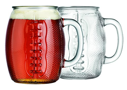 Oktoberfest 37 Oz Football Glass Fun Jumbo Beer Mug (2) -