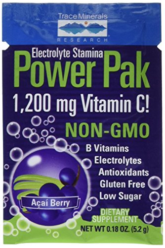 Trace Minerals Research Electrolyte Power Pak Acai Berry, 30 Count, 5.5 Ounce