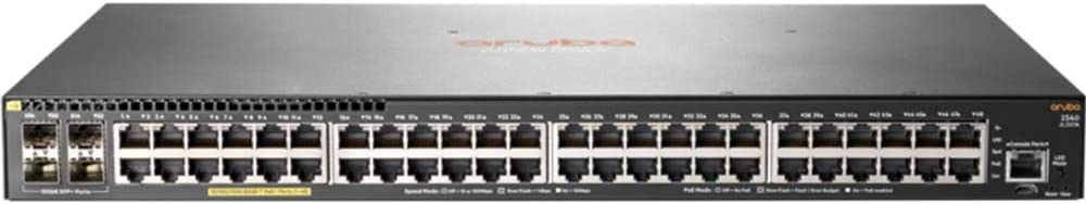 HP JL357A 2540 48G PoE+ 4SFP+, Switch, 48 Ports, Managed, Rack-mountable