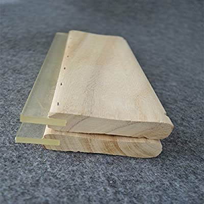 "2pcs Screen Printing 13"" (33cm) Wooden Ink Squeegee Wider Than Standard"