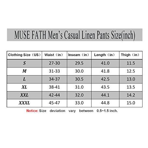 MUSE FATH Men's Linen Drawstring Casual Beach Pants Lightweight Summer Trousers