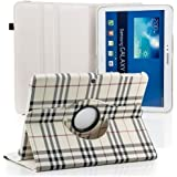 Saxonia Samsung Galaxy Tab 3 10.1 Housse Coque Etui pliable (360°) Carreaux