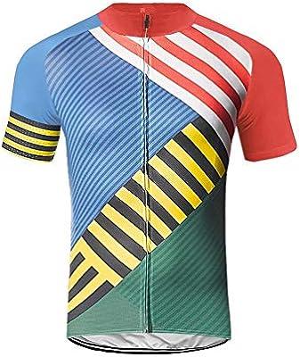 Uglyfrog Hombre Poliéster Ciclismo MTB Jersey Respirable Rápido Seco con Bandera Nacional Colorear Partido Patrón de Manga Corta Jersey: Amazon.es: Deportes y aire libre