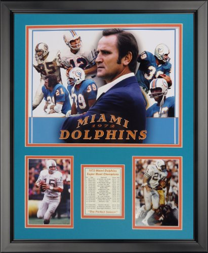 Legends Never Die Miami Dolphins - 1972 Collage Framed Photo Collage, 16