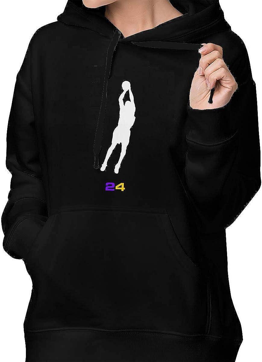 DeniCar Womens Pullover Black-Mamba-Logo-24 Hoodie Sweatshirt