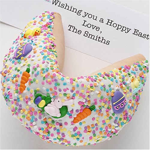 GIGANTIC Gourmet Fortune Cookie: White Chocolate Hand Dipped & Decorated for Easter!