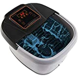 Yosager Portable Foot Spa Bath Massager with Heat, Manual Rolling Massage, LED Display, Temperature Setting & Timer Function