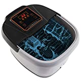 Yosager Portable Foot Spa Bath Massager with Heat, Manual Rolling...