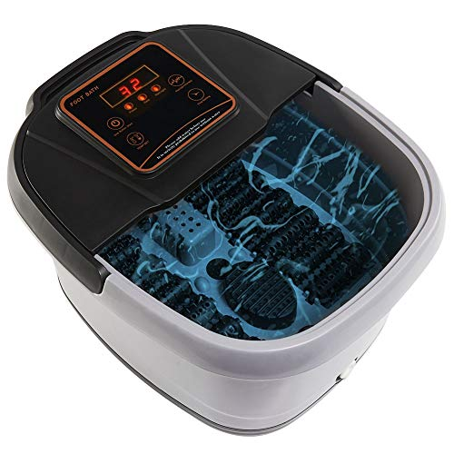 Yosager Portable Foot Spa Bath Massager with Heat, Manual Rolling Massage, LED Display, Temperature Setting & Timer Function ()