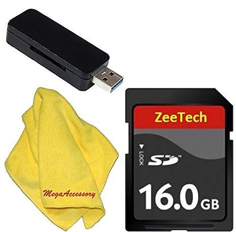 zeetech 16 GB + Lector de tarjeta de memoria para Canon EOS ...