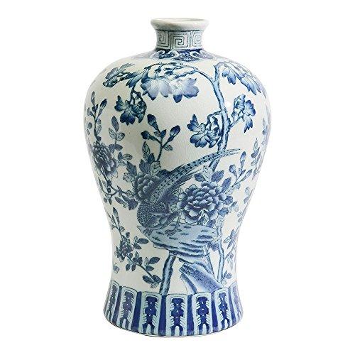 Ethan Allen Mei Ping Porcelain Vase - Key Vase Greek