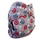 AngelicWare Cloth Diaper - One Size. Reusable Baby Pocket Diapers Cover + 5 Layer bamboo Insert. Absorbent leak proof aio. Best Designer Diapering Gift. Keep them Happy & Dry