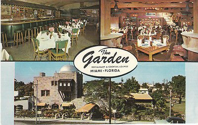 F9215 FL, Miami The Garden Restaurant Postcard ()