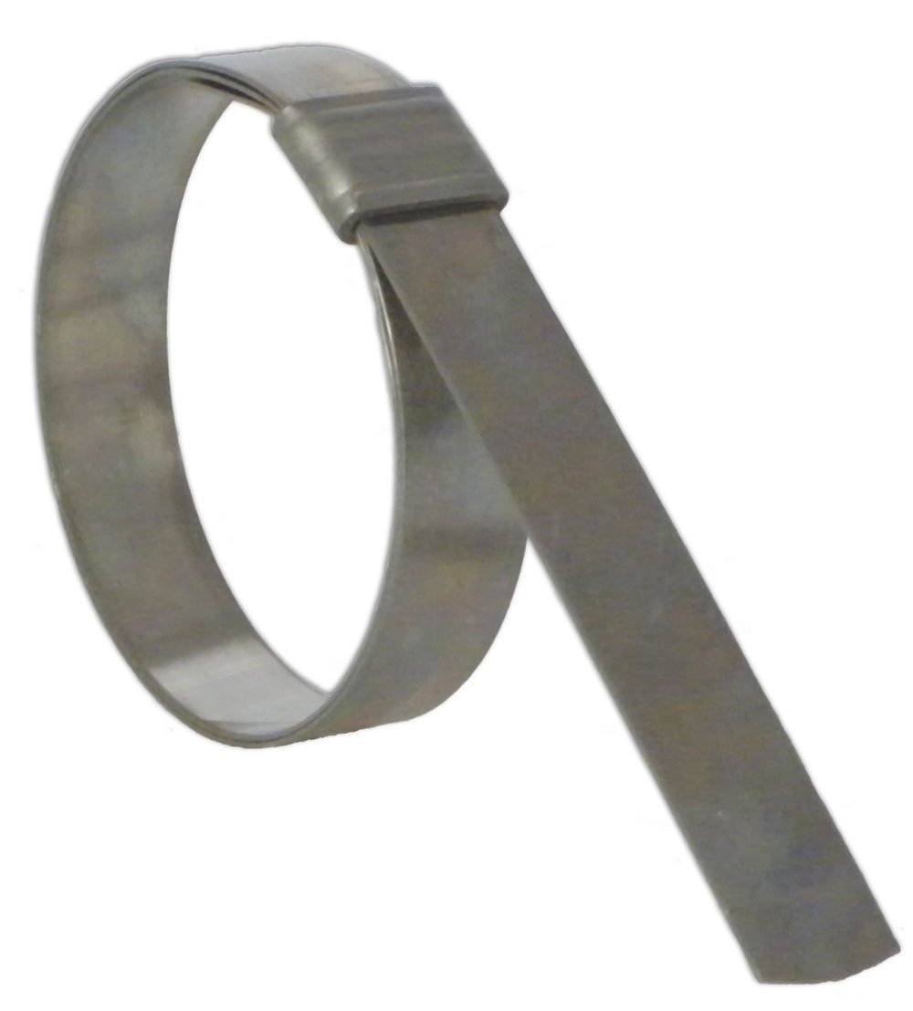 BAND-IT JS4159 Junior 3/4'' Wide x 0.030'' Thick, 5'' Diameter, 316 Stainless Steel Smooth I.D. Clamp (25 Per Box) by Band-It