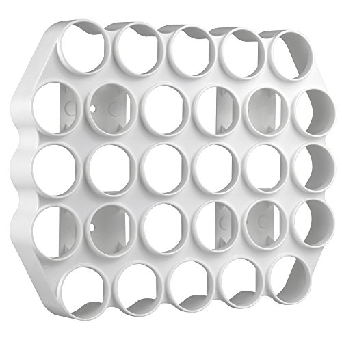 l and Stick Cafe Wall Caddy | 28 Capacity Single Serve Coffee or Tea Pod Wall Display | White Color ()