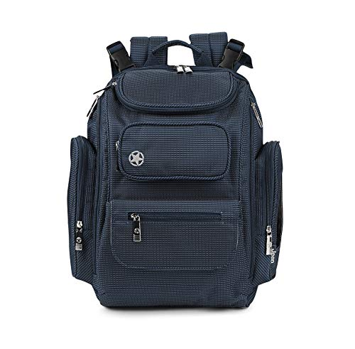 Jeep Adventurers Backpack Diaper Bag- Blue Pin Dot, Navy