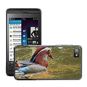 Super Stella Slim PC Hard Case Cover Skin Armor Shell Protection // M00146518 Mandarin Ducks Aix Galericulata Duck // BlackBerry Z10
