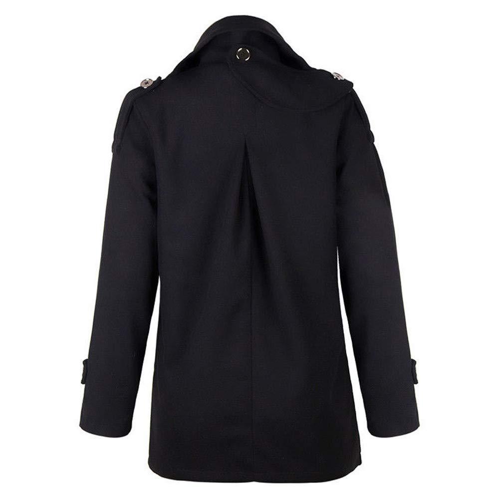 Pea Coat for Women Laimeng/_World Women Solid Long Coat Parkas for Women Ladies Plus Size Winter Coats