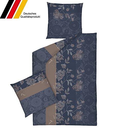 Dormisette Fein-Biber Bettwäsche 135x200 (1370-blau)