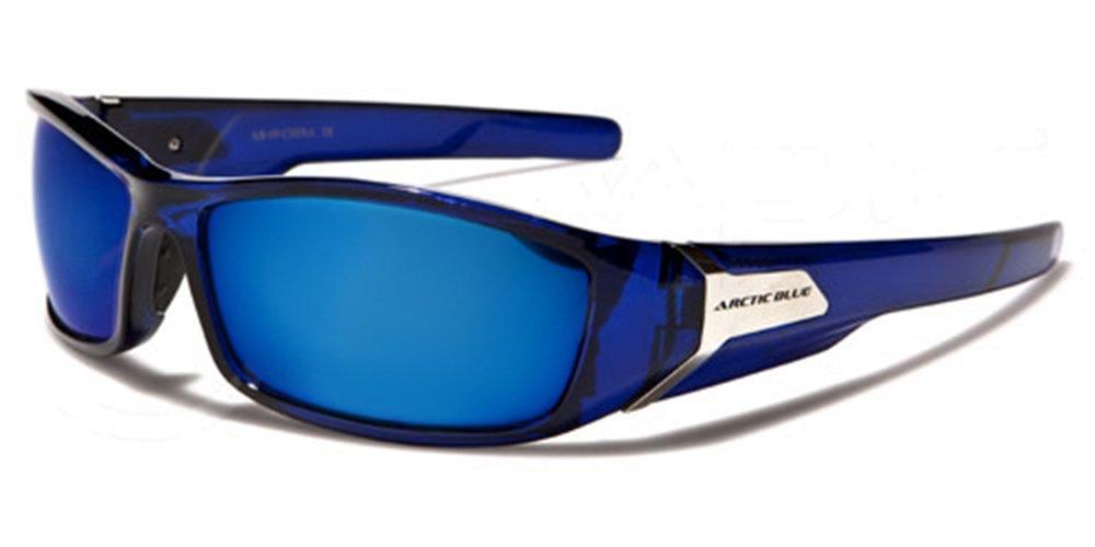 ArcticBlue Lunettes de Soleil - Sport - Cyclisme - Ski - Conduite - Motard - Plage / Mod. Kite Bleu Cristal Miroir / Taille Unique Adulte / Protection 100% UV400 G2d2KbON9N