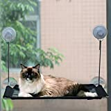 [Strong Suction Cup]Cat Window Perch - Wireless Cat Hammock Window Mounted Up to 45lbs Window Mounted Cat Bed & Cat Sunny Seat - Provides Comfortable Sunbath and Watching Spot for Kitty (Flat 1pcs)