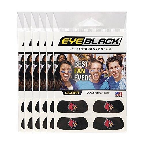 EyeBlack (24 Strips) Louisville Cardinals Anti Glare Stickers,