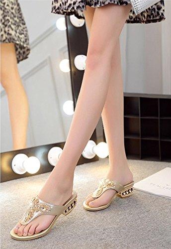 de Estudiantes de cuña Verano tamaño Gold Coreano Color al 35EU Libre Casuales Moda Gruesas Zapatillas Nueva Punto GOWOLD Aire Sandalias Usan Plata Casual Suelas de 2018 Zapatillas de Simple la tqwS0nZx